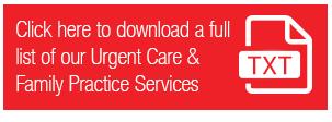 Urgent Care Services Txt